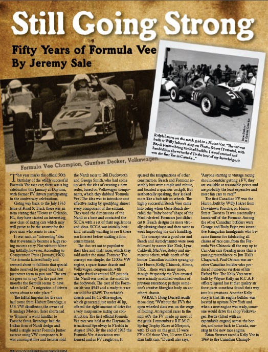 Fifty Years of Formula Vee